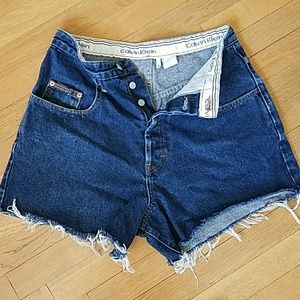 Calvin Klein vintage ♥USA buttonfly cut off shorts
